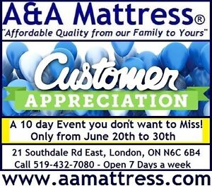 NEW DOUBLE MATTRESSES from $140 +Full BOXPRINGS $80. No Tax Sale London Ontario image 10