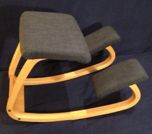 Varier (Stokke) Balans chair. Bees waxed wood.
