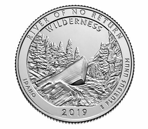 "PRESALE 2019 ""P"",""D"" & ""S"" BU ATB ""River of no Return- Idaho""from mint rolls!"