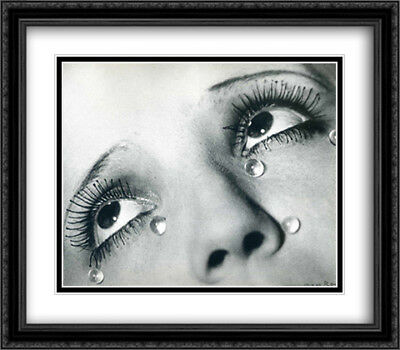 Glass tears 2x Matted 32x28 Large Black Ornate Framed Art Print by Ray, (Rayman Glasses)