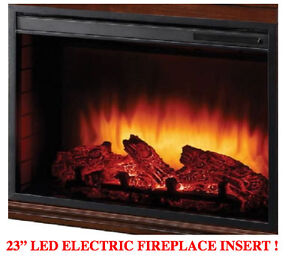 """BRAND NEW 23"""" LED ELECTRIC FIREPLACE INSERT ONLY !"""