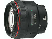 Canon EF 85mm f / 1.2L USM Black Lens