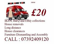 House Removal flat Shifting Moving Sofa Furniture Removal Man & Van Hire on short notice Nationwide