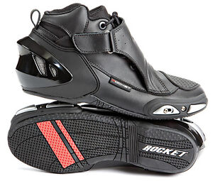 Joe Rocket Velocity V2X Motorcycle Shoe Black Size 10 Mens Race Stunt Drag Shoes