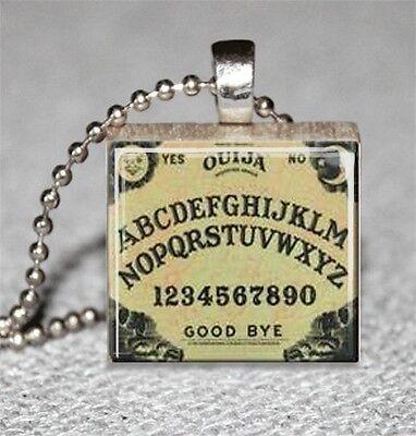 Ouija Board Scrabble Tile Pendant Handcrafted Recycled Board Game Tile - Handcrafted Ouija Board