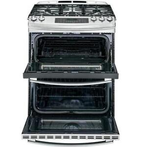 Ge profile Gas Stove, stainless steel double oven, $1799