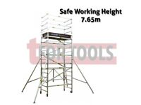 JEFFERSON T90 SCAFFOLDING COMPLETE EXTENDED SCAFFOLD OUTRIGGER SAFE HEIGHT 7.65M