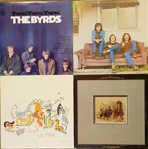 Late 60's Folk Rock Vinyl LP Records- Byrds, CSN, CSNY, S-Y