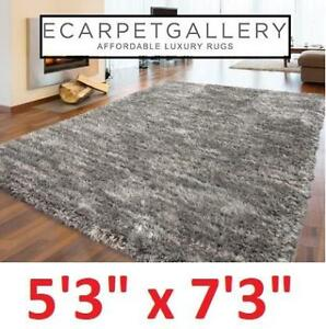 NEW ECARPETGALLERY SHAG RUG 5x7FT 181216 200598197 Yeti Shag Cream Light Grey