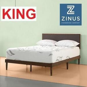 NEW ZINUS MEMORY FOAM MATTRESS AZ-CMM-1200W 220579491 KING SIZE 12 INCH PREMIUM CLOUD LIKE