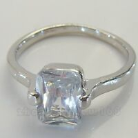 LADY'S LILY SAPPHIRE10KT REAL WHITE GOLD FILLED RING