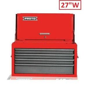 """NEW* PROTO TOOLS TOP CHEST J542715-4SG-D 213587196 4 DRAWERS 27""""W"""