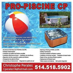 Above-ground POOL closing services !