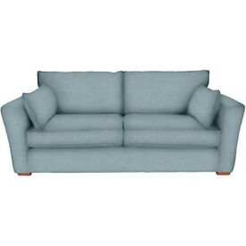 One or two NEW large Schreiber sofas in duck egg blue
