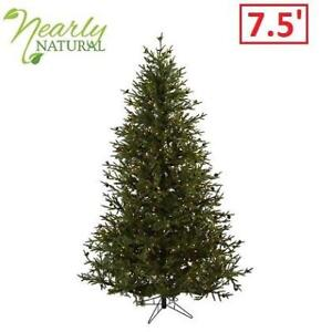 NEW 7.5' CLASSIC CHRISTMAS TREE 5373 211755027 NEARLY NATURAL GREEN PINE CONE