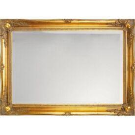 Brand new gold scroll mirror