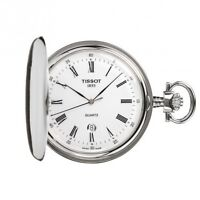 Tissot Savonnette Pocket Watch white dial with chain