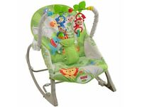 Fisher price bouncer chair vibrating