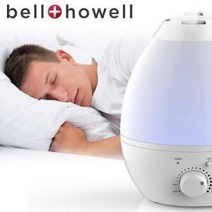 NEW BH COLOR CHANGING HUMIDIFIER BELL AND HOWELL WHITE HUMIDIFIER 105919509