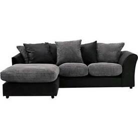 Charcoal corner couch (left hand)