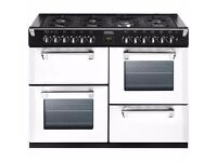 STOVES RICHMOND 110CM ICY BROOK DUAL FUEL RANGE COOKER