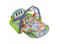 Fisher price piano playmat and bouncer seat