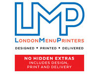 Takeaway & Restaurant Menu Printers - FREE Design - ALL FOR ONE PRICE - ONLINE ORDERING AVAILABLE