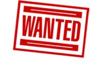 ITEMS WANTED cash waiting