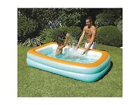 Swimming pool & footpump