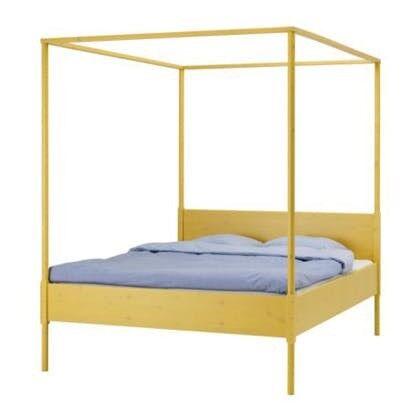 Ikea Hemnes Four-poster Queen Bed Frame + Ikea Sultan Mattress | in ...