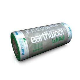 earth wool loft insulation rolls of 200m or 150mm £10.00 a roll