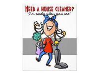 DO U NEED A LADY CLEANER?