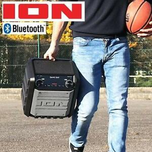 OB ION AUDIO GAME DAY SPEAKER iPA80 223645410 COMPACT WATERPROOF WIRELESS SPEAKER SYSTEM AM/FM RADIO USB PORT OPEN BOX