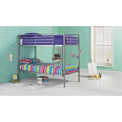 Samuel Shorty Bunk Bed Frame - Silver