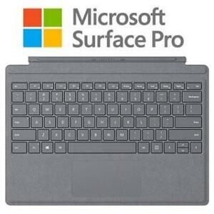 NEW MICROSOFT SURFACE PRO KEYBOARD ffp-00001 250303642 ALCANTARA SIGNATURE TYPE COVER PLATINUM