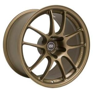 "ENKEI PF01 18"" Track Drag Wheels for NISSAN R35 GTR Titanium Gold **WHEELSCO**"