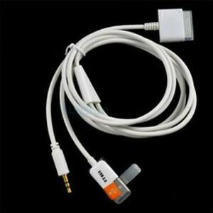 USB 3.5mm AUX Audio Data Charger Cable for iPhone / iPod / iPad