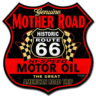 VINTAGE STYLE METAL SIGN Route 66 The Mother Road 18 x 18