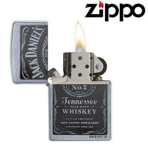 NEW ZIPPO POCKET LIGHTER 24779 224476248 Jack Daniel's Tennessee Whiskey Label Street Chrome