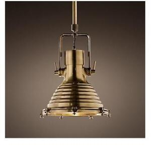 "OB RH 19"" MARITIME PENDANT 68070001 ABRS 217863588 RESTORATION HARDWARE  ANTIQUED BRASS 19"" OPEN BOX"