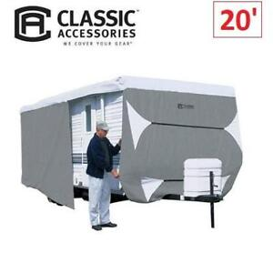 NEW DELUXE CLASS A RV TRAILER COVER 73163 219007114 CLASSIC ACCESSORIES FITS 18' TO 20' RVS MAX WEATHER PROTECTION GREY