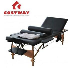 NEW PORTABLE MASSAGE TABLE 84 HB85361BK 256992746 COSTWAY W/ SHEET COVER 3 FOLD BLACK