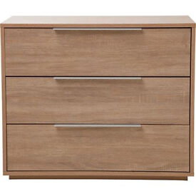 Heart of House Bergen 3 Drawer Chest - Oak Effect