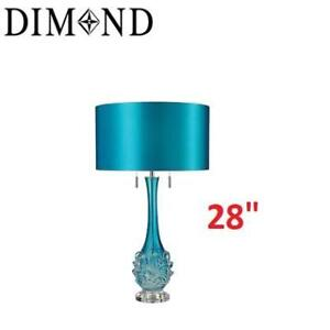 """NEW LED SWIRLED TABLE LAMP D2666-LED 222278089 BLOWN GLASS 28""""H x 16""""W x 16""""D"""