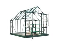 Eden Aluminium Magnum Green Greenhouse with Horticultural Glass & Base - 10x8ft