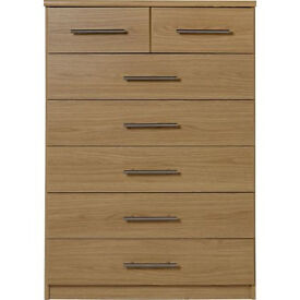 Normandy 5+2 Drawer Chest - Oak Effect