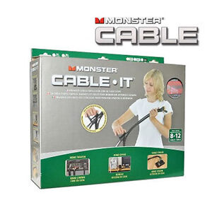 16 ft. Monster Cable-It Large Cable Management Kit - Navajo Whit