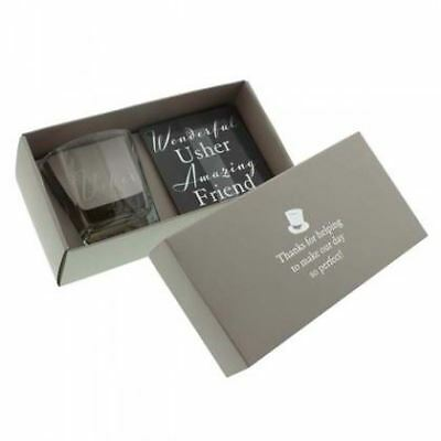 Whisky Glass and Coaster - Wedding Gifts for Fathers, Best Men and - Gifts For Wedding Ushers