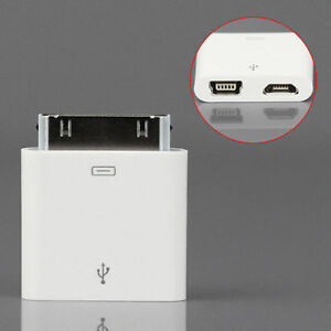 Micro-Mini USB Female to 30pin Dock Male Charger Adapter for iPh