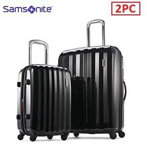 OB SAMSONITE 2PC LUGGAGE SET 111720-1041 209840379 Hardside Spinner (20/28) Black OPEN BOX